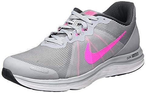 Nike Dual Fusion X 2, Chaussures de Running Femme, Gris (Wolf Grey/Pink Blast-Anthracite-White), 39 EU