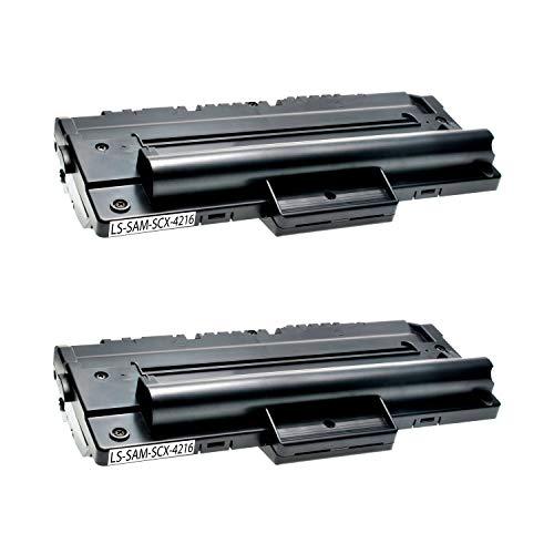 2 Toner kompatibel für Samsung SCX-4216FN 4214F 4166 4016 SF-560 565P 750 755P CF 560 750 Msys 7500 Series 755P -SCX-4216D3/ELS - Schwarz je 4.000 Seiten -