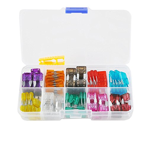 120pcs Blade Fuse Mini 3A 5A 7.5A 10A 15A 20A 25A 30A 35A 40A Assorted Auto Car Truck Set for Mini Car Boat Truck SUV Automotive Replacement Fuses with Puller Extraction Tool Kit