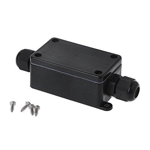 JOYKK Wasserdichte IP65-Anschlussdose für Schutzanschlüsse - Schwarz -