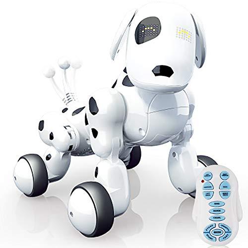 WISHTIME Remote Control Hunderoboter Spielzeugroboter Hund für Kinder Buddy Interactive Dog, Augen mit LED, Elektronisches Haustier mit USB-Ladegerät, für Kinder