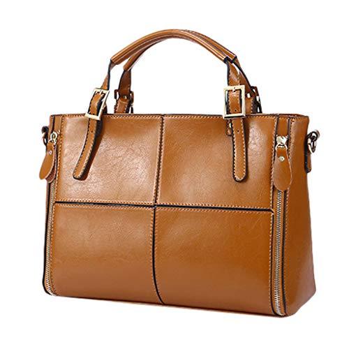 Linkay Neuer HeißEr Verkauf Mode Wild Damen Retro Großraum Tasche Handtasche Handtasche Wild UmhäNgetasche Rucksack (Braun