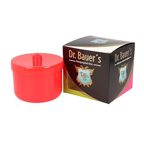 Dr. Bauer´s Reinigungsbad-Dose mit Klarspüleinsatz   Prothesendose   Gebissdose   Prothesendose mit Einsatz   Zahnspangendose (rot)