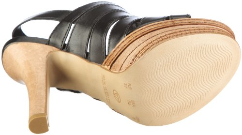 Via Uno Leather-Atanado 21071601 Damen Sandalen/Fashion-Sandalen Schwarz/Black