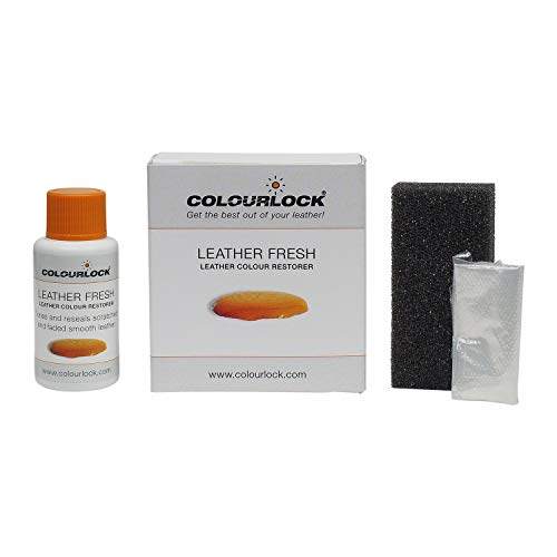 COLOURLOCK Leder Fresh 150ml-DIY Reparatur Leder Farbe, Farbstoff Dye, regeneratorfarbauffrischer für Schrammen, Schäden, kleine Risse auf Autositze, Sofas, Taschen, Sofa und Kleidung, F037, 30 ml -
