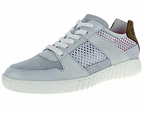 Tamaris Damen Sneaker Schnür Leder Halbschuh weiß grau braun Yoga It , Schuhgröße:39