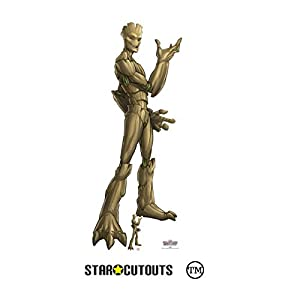 Star Cutouts SC1416 Ltd Groot Guardianes de la Galaxia grande cartón recorte perfecto para los fans de Marvel Altura 195 cm Ancho 80 cm, multicolor