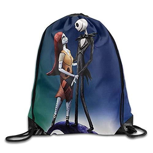 eutel/Sportbeutel, Jack Skellington and Sally Corpse Bride Drawstring Backpack for Men/Women ()