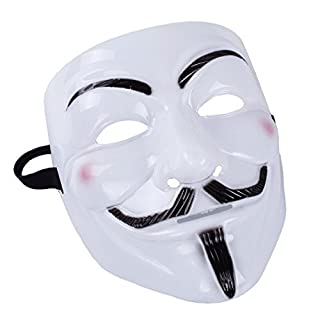 A-szcxtop New Arrival Theme of Movie V for Vendetta Anonymous Mask Guy Fawkes Fancy Dress Face Mask for Halloween Masquerade Carnival Costume Party Supplies