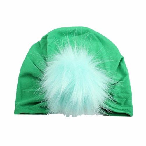 Baby Hut Transer® Unisex Mädchen/Jungen Kleinkind Säugling Cap Polyester Wärmer Winter Outdoor Mützen mit Flauschigen Ball (Für Kostüme Australian Jungen)