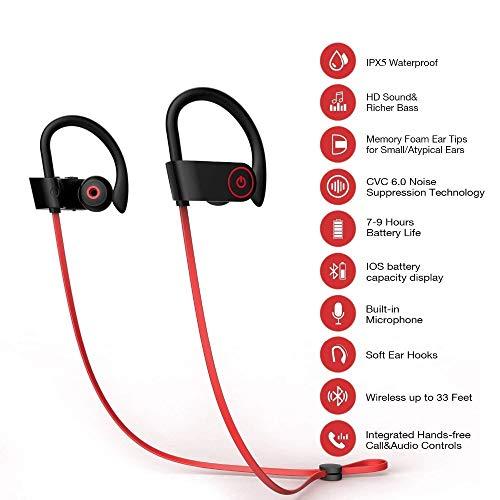 Duoker Auricolari Bluetooth Fitness Sport  85c3d72df8e4