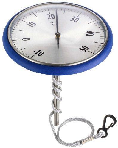 In acciaio inox da-Termometro per piscina, colore: blu