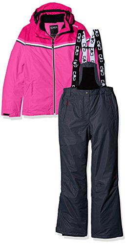 CMP Mädchen Skiset Set, rosa (Hot Pink B375) , 176