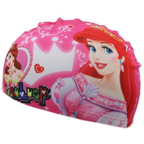 Ogobvck il nuoto cappello childrens panno tessuto nuoto subacqueo cartoon multicolore della cuffia maschio o femmina (mermaid)