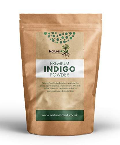 Natures Root Indigopulver (Indigofera Tinctoria) 250g - Natürliche Haarfarbe | Premium Qualität | Zum Färben & Revitalisierend Haar Glanz -