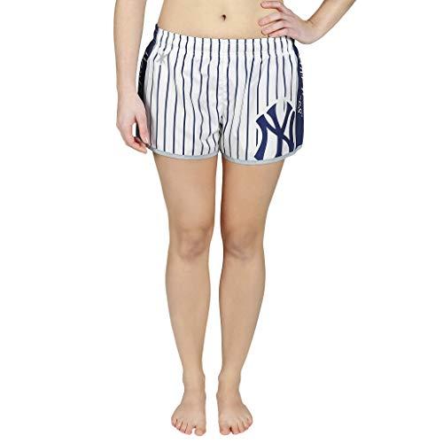 Nadelstreifen-damen Shorts (FOCO MLB Damen-Shorts aus Polyester mit Nadelstreifen, Damen, Team Color, Medium)