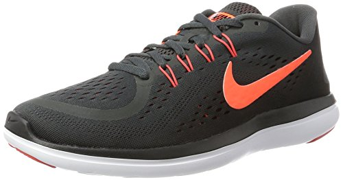 Nike Men's Nike Free Rn Sense Running Shoe, Scarpe Sportive Indoor Uomo Multicolore (Anthracite/hyper Orange-black-track Red)