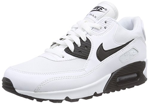 Nike Air Max 90 Essential, Damen Laufschuhe, Weiß (White/Black 110), 40.5 EU