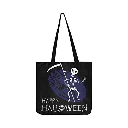 n Halloween Leinwand Tote Handtasche Umhängetasche Crossbody Taschen Geldbörsen Für Männer Und Frauen Einkaufstasche ()