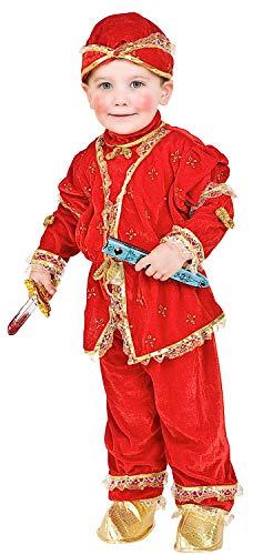 Costume di Carnevale da Conte dei Gigli Vestito per Bambino Ragazzo 1-6 Anni Travestimento Veneziano Halloween Cosplay Festa Party 2290 Taglia 2