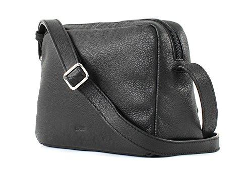 BREE Cary 10, Black, Cross Shoulder M - Borse a spalla Donna, Schwarz (Black), 8x15.5x23 cm (B x H T) Nero (Black)
