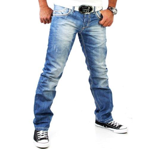 Preisvergleich Produktbild Cipo & Baxx Jeanshose Jeans Hose C-595 Stone Washed Blau Hosengröße: W29 / L32