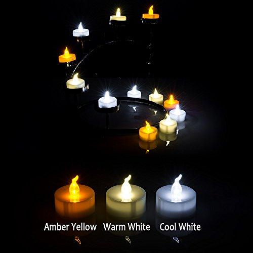 AGPtek 60x Velas LED a Pilas Sin Fuego, Velas Decorativas Electrónicas para Bodas Fiestas