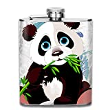 FGRYGF Pando Bamboo Fashion Portable Stainless Steel Hip Flasche Whiskey Bottle for Men and Women 7 Oz