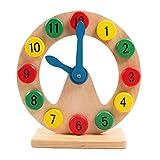 Pueri Holzform Sortierung Uhr Lehre Uhren Digital Pädagogisches Spielzeug für Kleinkinder Kinder