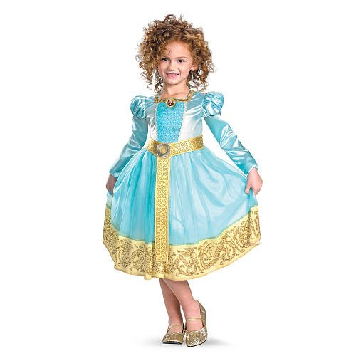 Disguise Womens Deluxe Girls Merida Fancy dress costume Medium ()