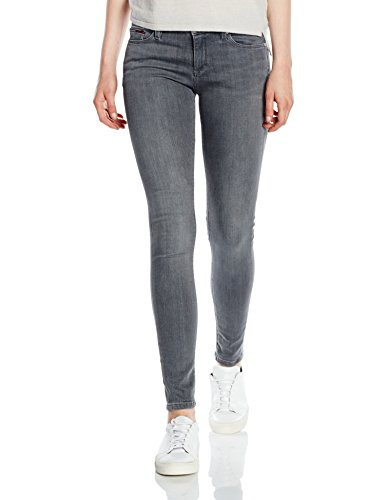 Hilfiger Denim Damen Skinny Jeanshose Mid rise Nora GREST, Gr. W29/L32, Grau (GREY STRETCH 994) (Mid-rise Jeans)