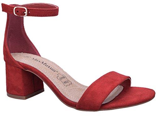 MaxMuxun Scarpe con Tacco Quadrato Rosso Casuale delle Donne Classic Mode Taglia 39 EU