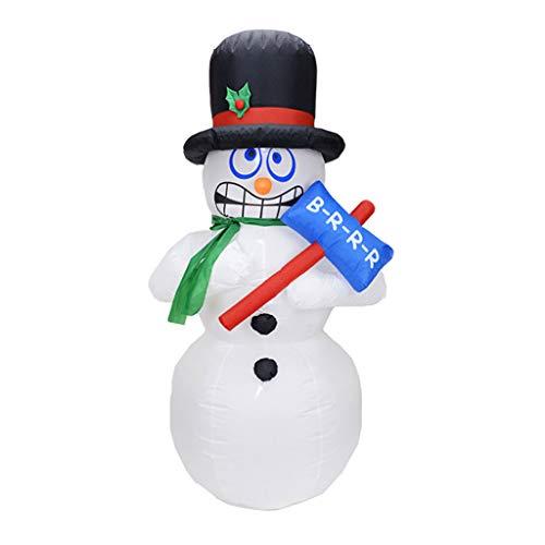 Aufblasbar Weihnachten Hof Dekorationen - YHNUJMIK Ornament 1.8M Bammel Snowman Elektrische