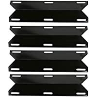GFTIME 43.97CM Porcelain Steel Heat Plate for Charmglow, Costco Kirkland, Grand Isle, Nexgrill, Perfect Flame, Permasteel, Sams Club, Lowes Model Gas Grills, Burner Cover, Heat Diffuser Tent Deflector, Replacement Spare Parts, 4-Pack