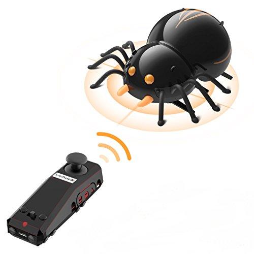 Virhuck DIY RC Spinne, Bionic Insekt Spielzeug für Kinder, 2.4Ghz, Intelligenter Sensor, Remote / Touch / Automatikmodus, 3.7V 380mAh Akku, bis zu 30 Minuten Spielzeit, 1 Stunde Ladezeit, Interessanter DIY RC Auto für Kinder und Erwachsene.