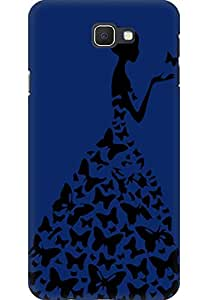 AMEZ designer printed 3d premium high quality back case cover printed hard case cover for Samsung Galaxy J7 Prime (navy blue princess)