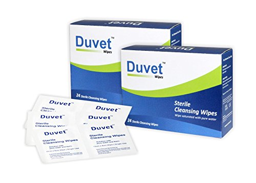 Duvet Wipes Sterile Cleansing Wipes 24S Pack