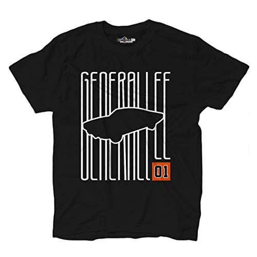 KiarenzaFD T-Shirt The Generale Dukes of General Lee Hazzard Serie Tv Vintage, KTSA02067-XL-black, schwarz, XL