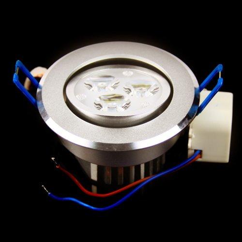 3W LED Design Einbauspot rund 3 PowerLed wie 40W Halogen Spot Downlight