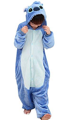 tonwhar® Kinder Kreuzstich Kigurumi Schlafanzüge Kinder Unisex Holloween Kostüm Einteiler Gr. Höhe:3'5-3'9, - Holloween Kostüm Kinder
