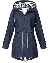 Vestiti Donna Invernali All Aperto Leopardato Donna Beikoard Giacca Impermeabile  da Pioggia per Donna Giacca da Pioggia Impermeabile… 7b13a415ed97