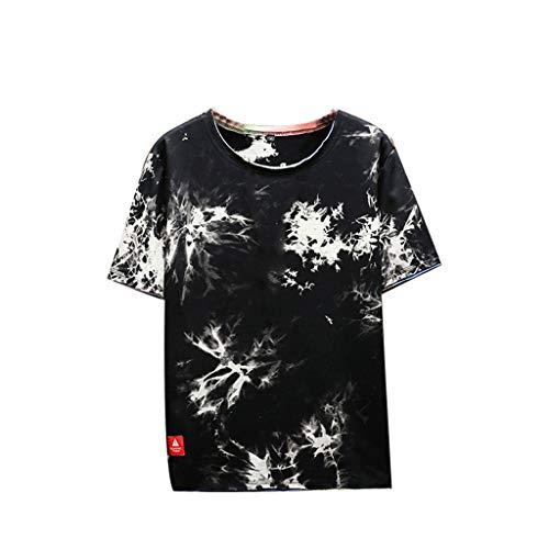 0b3c2ad5c algodón Camiseta Muscle Ocasional de los Hombres Hermoso O-Cuello Color  sólido Slim Fit Raglan