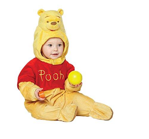 Disney Baby DCWIN - RPMO - 012 - Kostüm - Winnie Puuh - Fleece Strampler mit Kapuze, gelb