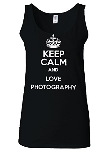 Keep Calm And Love Photography Novelty White Women Vest Tank Top *Noir