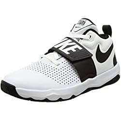 Nike Team Hustle D 8 (GS), Zapatos de Baloncesto para Niños, Blanco (White/Black 100), 38 EU