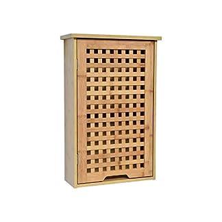 41%2BC%2B3iSGaL. SS324  - TENDANCE Armario Baño Pared Koh Lanta 1 puerta con 1 Estante Interior - Mueble Baño Bambú 40 x 15 x 61,5 cm