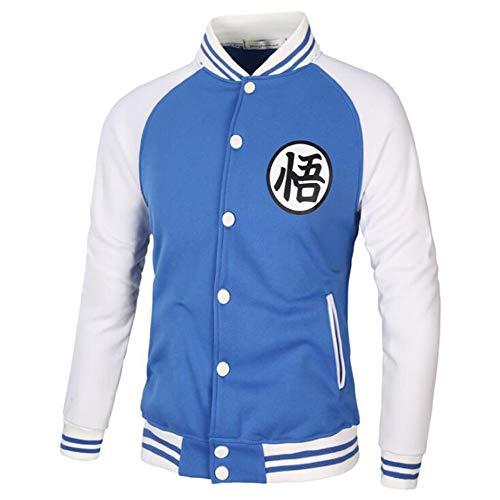 Baseball Jacken für Männer Frauen Dragon Ball Langarm Strickjacke Sweatshirt Goku - Herren Baseball Uniform Kostüm
