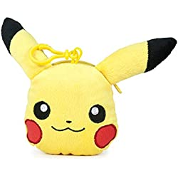Famosa Softies - Pokèmon Monedero, peluche Pikachu, 12 cm, color amarillo (Famosa 760015202)