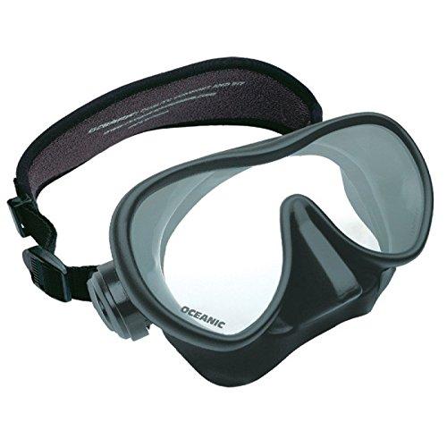 Oceanic Mini Shadow Maske, schwarz, mit kleinem Silikonkörper für schmale Gesichter -
