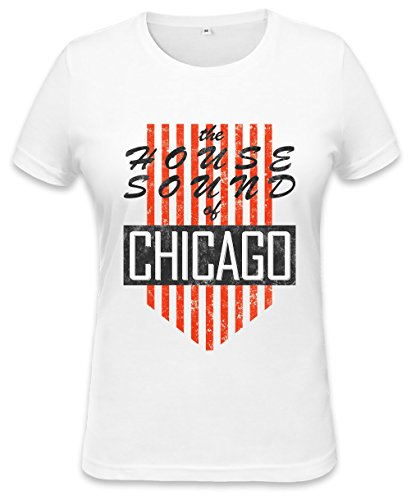 House Sound Of Chicago Retro Womens T-shirt XX-Large (Retro Womens Chicago T-shirt)